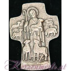 Bronzekreuz Der gute Hirt
