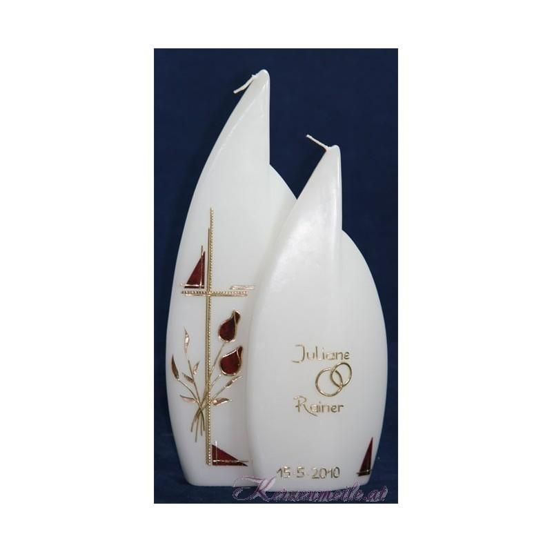 Hochzeitskerze Andante Flame Hochzeitskerzen-klassisch elegant