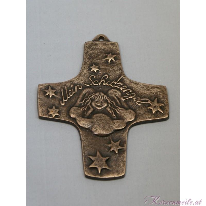 Bronzekreuz Schutzengel