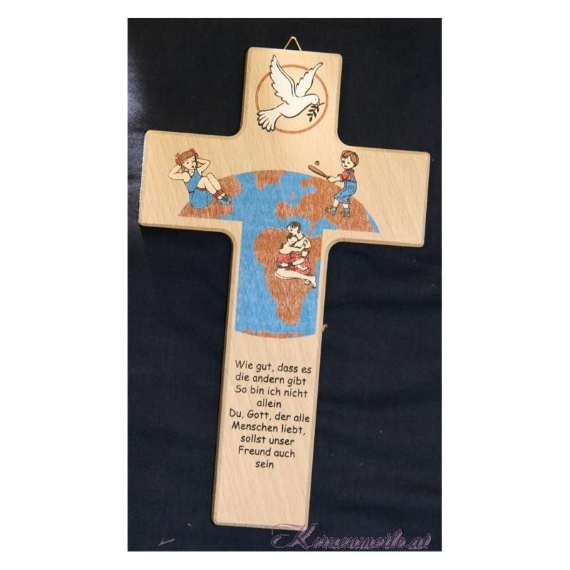 Kinderkreuz Weltkugel