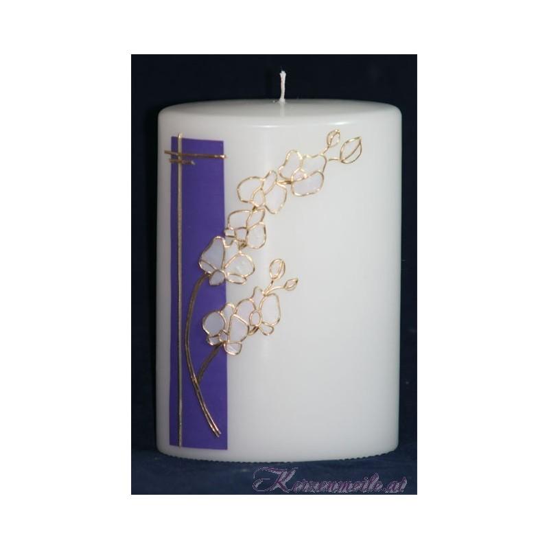 Hochzeitskerze Orchidee Hochzeitskerzen-exklusiv