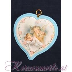 Schutzengelbild Blaues Herz