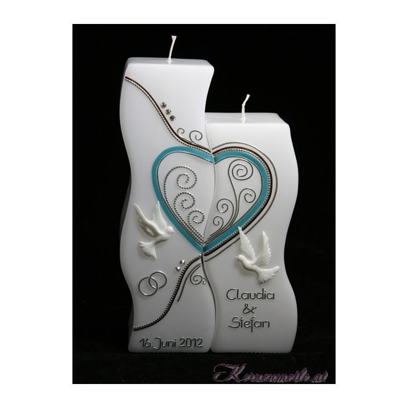 Hochzeitskerze Swing Dove Hochzeitskerzen-exklusiv