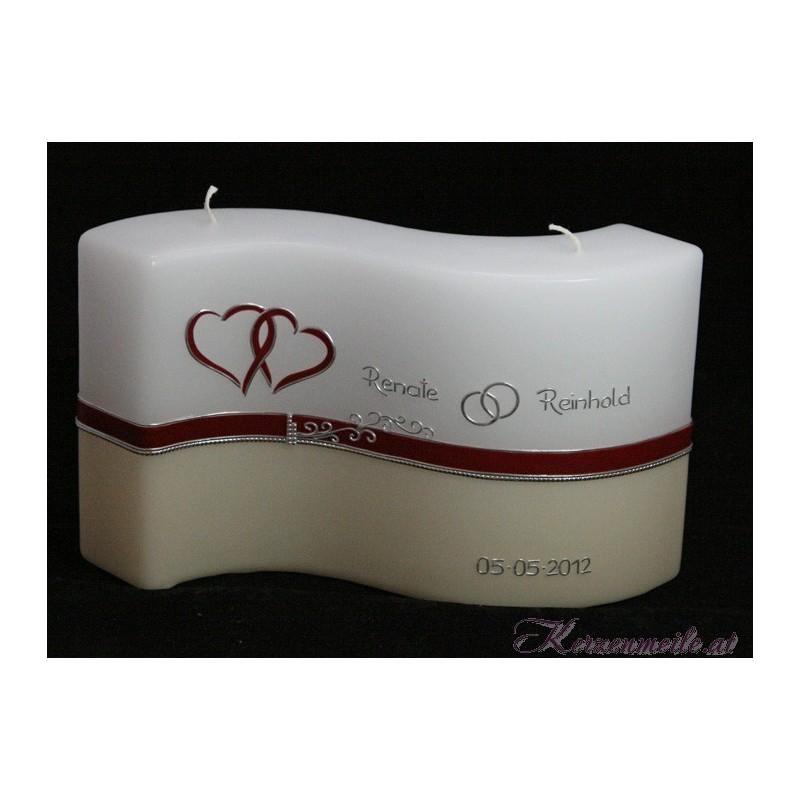 Hochzeitskerze Royal Hearts Hochzeitskerzen-exklusiv