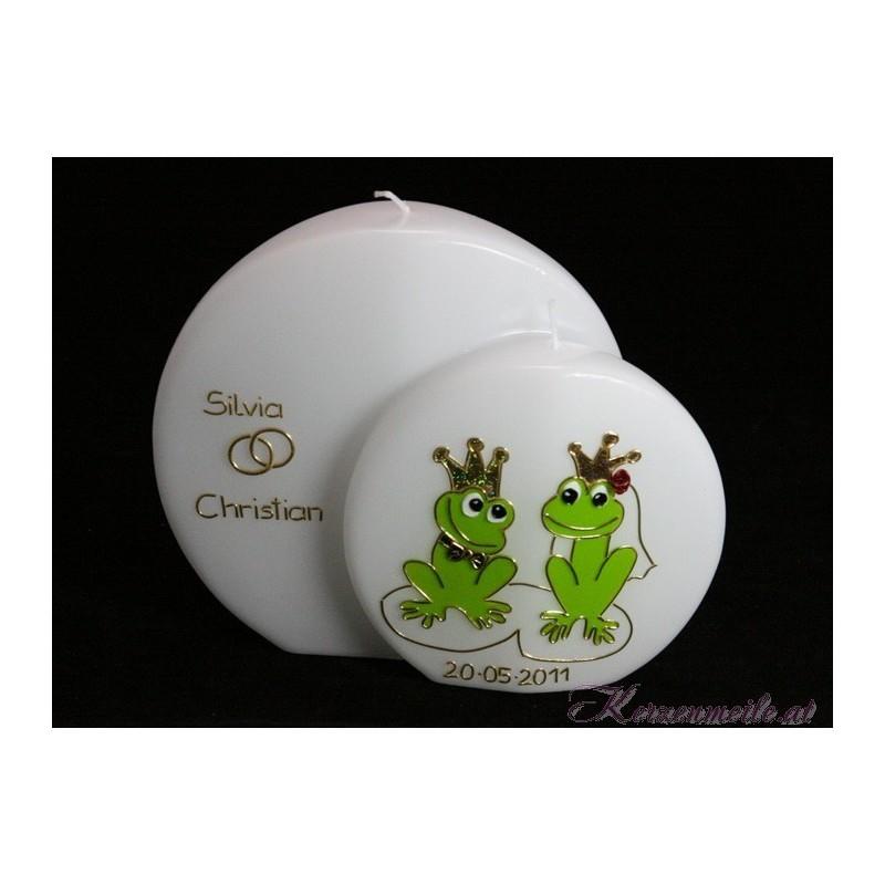 Hochzeitskerze Froschkönig Hochzeitskerzen-lustig