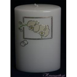 Hochzeitskerze Orchideen Hochzeitskerzen-exklusiv