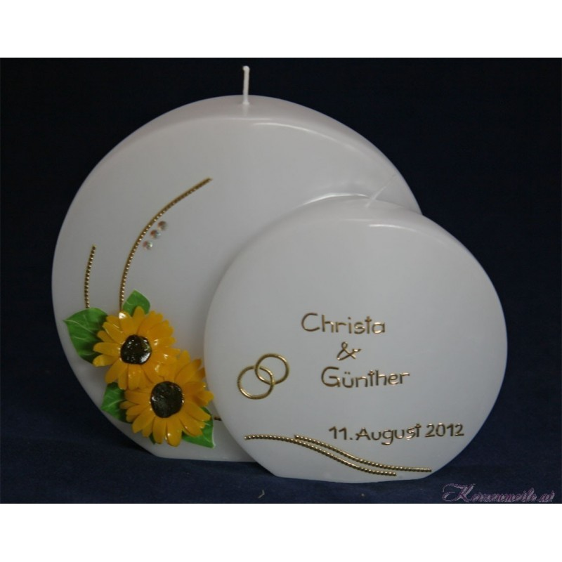 Hochzeitskerze Sunflowers Hochzeitskerzen-exklusiv