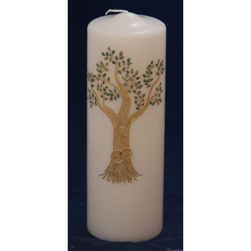 Hochzeitskerze Golden Tree Hochzeitskerzen-exklusiv