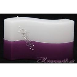 Hochzeitskerze Lilac Pearl Hochzeitskerzen-exklusiv