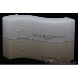 Hochzeitskerze Perlenkreuz Hochzeitskerzen-klassisch elegant