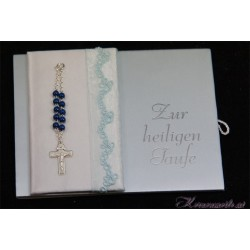 Taufbrief Rosary Blue