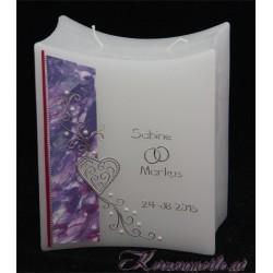Hochzeitskerze Perlen Hochzeitskerzen-exklusiv