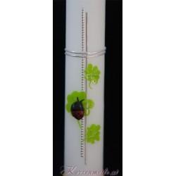Taufkerze Kleeblatt Taufkerzen-farbenfroh