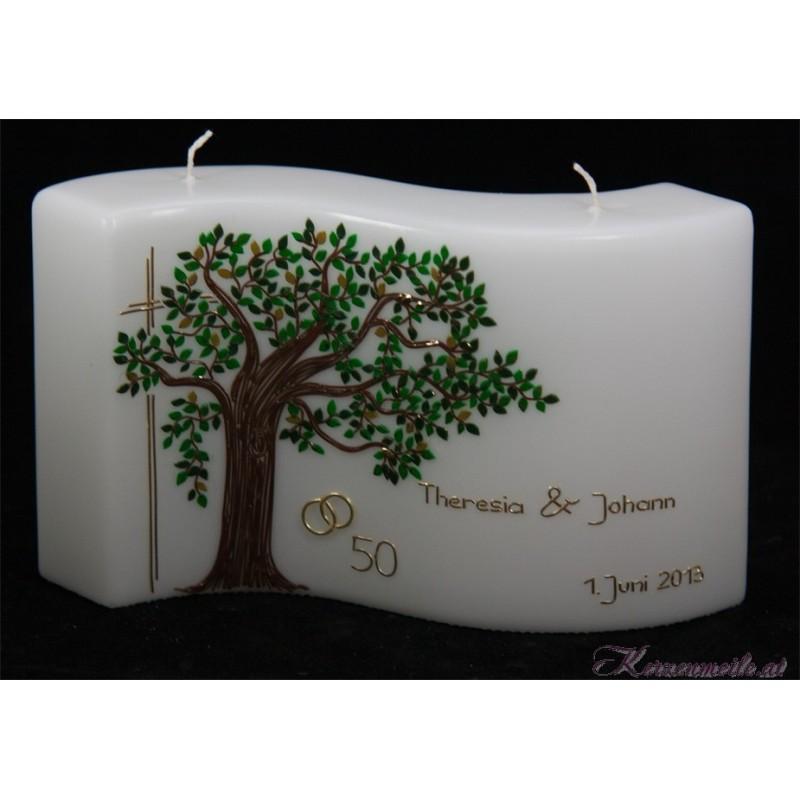 Hochzeitskerze Baum des Lebens Hochzeitskerzen-exklusiv