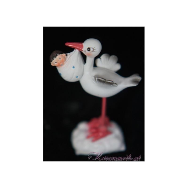 Tortenfigur Storch Junge Dekoration Taufe