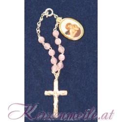 Rosenkranz Schutzengel rosa