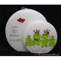Hochzeitskerze Familie Froschkönig Hochzeitskerzen-lustig