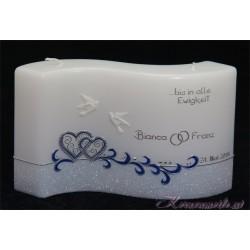 Hochzeitskerze Glamour Dove