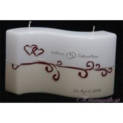 Hochzeitskerze Sharrax Heart Hochzeitskerzen-exklusiv