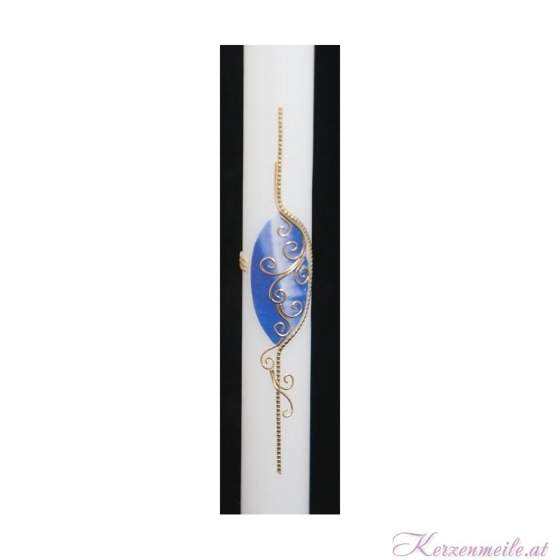 Taufkerze Blue Romance Taufkerzen-modern
