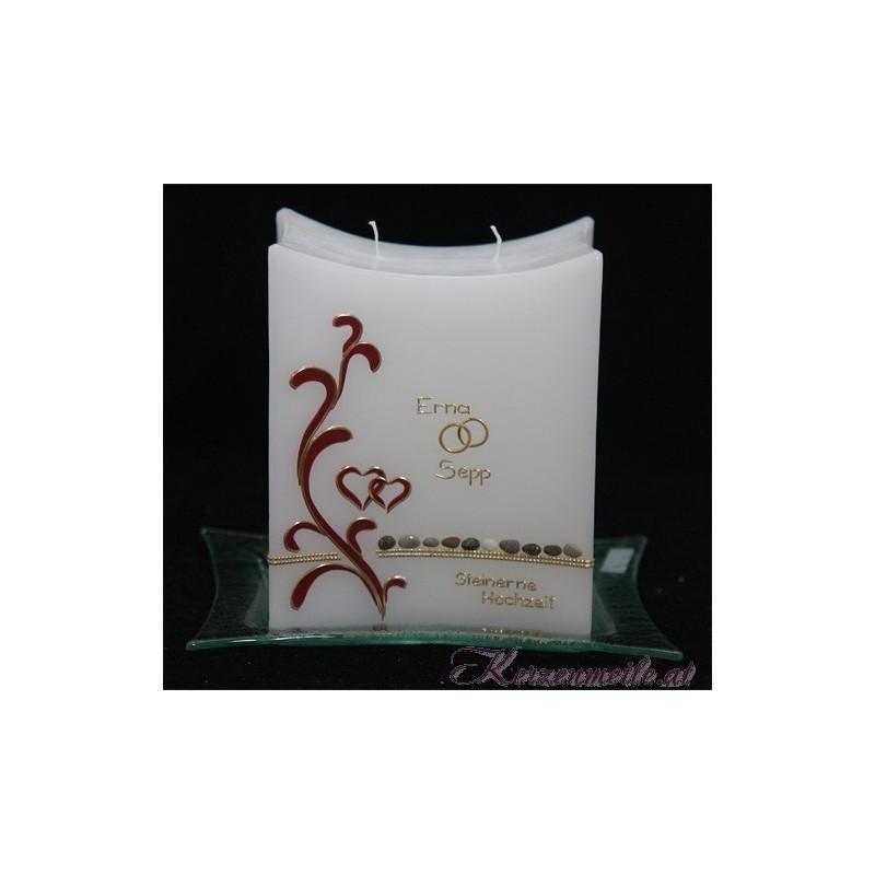 Hochzeitskerze Steine der Ewigkeit Hochzeitskerzen-exklusiv