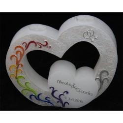 Hochzeitskerze Mit dem Regenbogen Hochzeitskerzen mit TeelichtHochzeitskerze Mit dem Regenbogen Hochzeitskerzen mit Teelicht ...