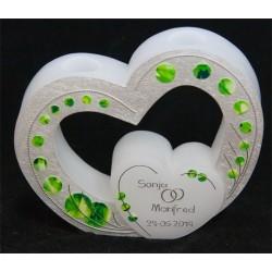 Hochzeitskerze Green Dots Hochzeitskerzen mit TeelichtHochzeitskerze Green Dots Hochzeitskerzen mit Teelicht Hochzeitskerzen ...