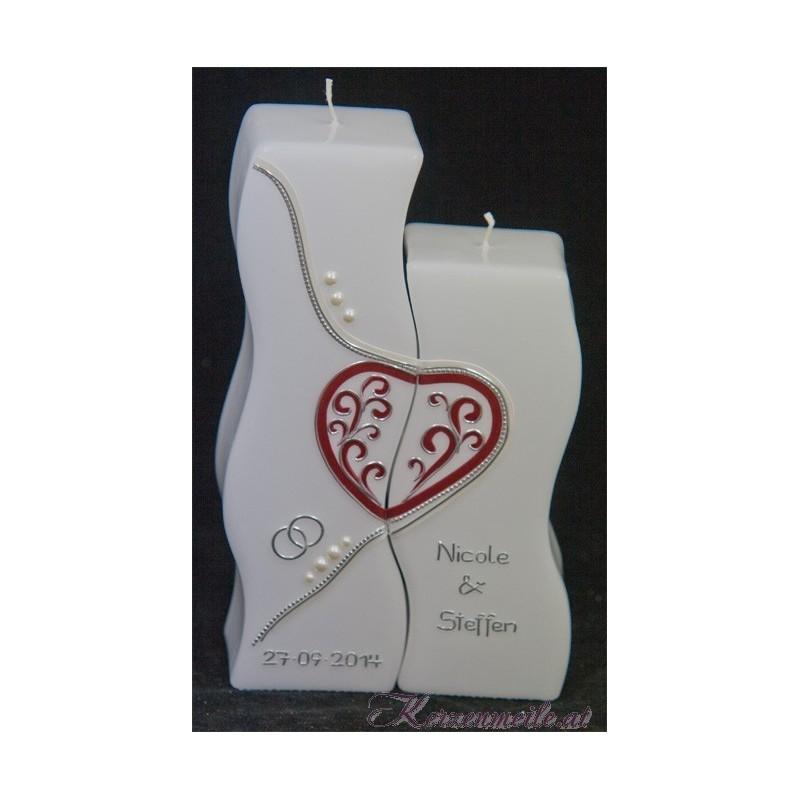 Hochzeitskerze Swinging Heart Hochzeitskerzen-exklusiv