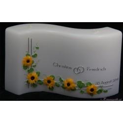 Hochzeitskerze Blumen der Sonne Hochzeitskerzen-exklusiv