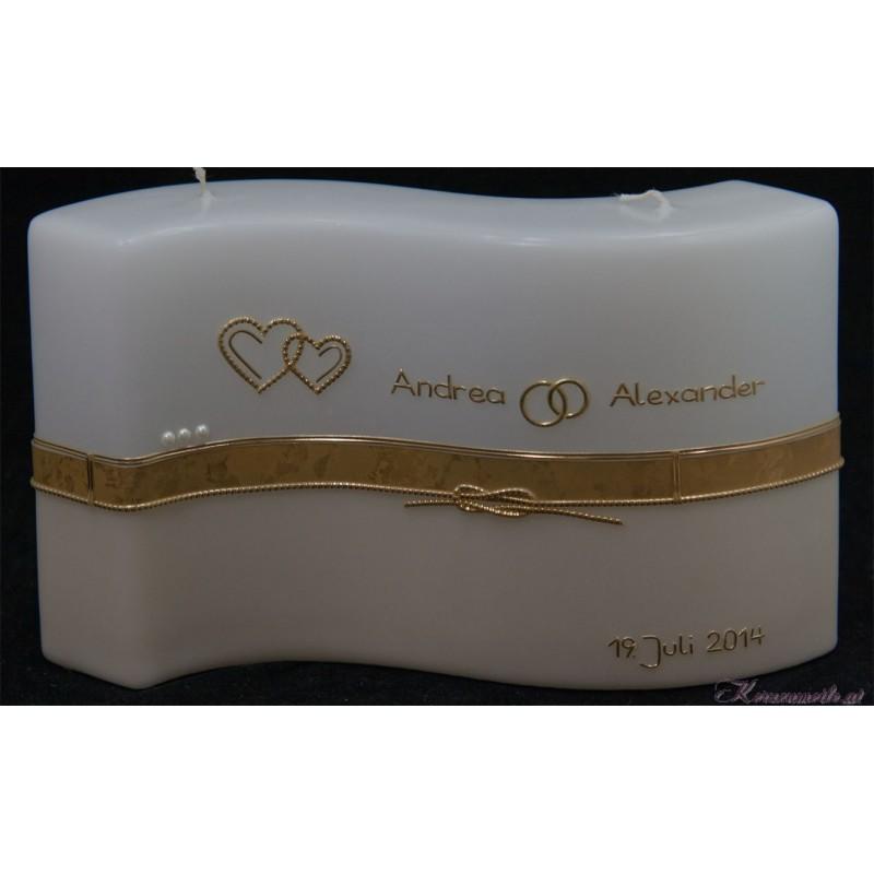 Hochzeitskerze Gold Hochzeitskerzen-klassisch elegant