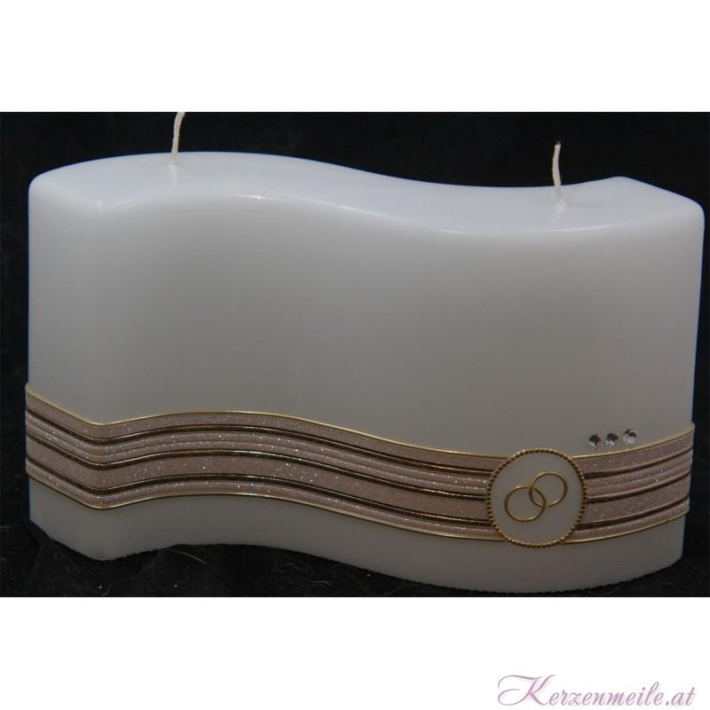 Hochzeitskerze Glamour Stripes Hochzeitskerzen Premium