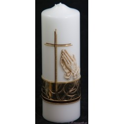 Tauerkerze Betende Hände Trauerkerzen und Gedenkkerzen
