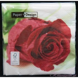 Serviette Rote Rose Servietten