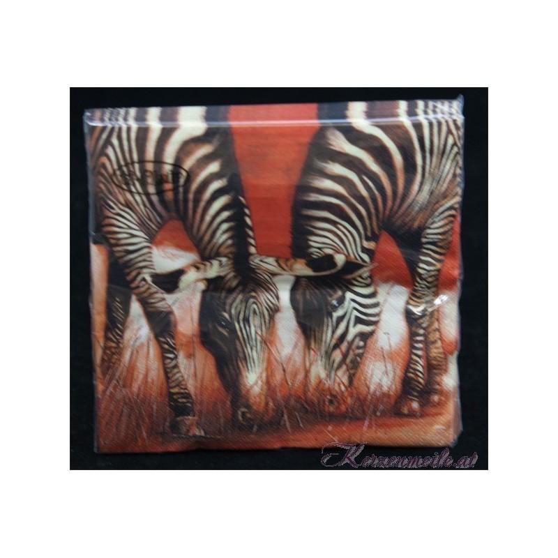 Serviette Zebra Servietten