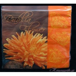 Serviette Flowers Orange