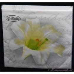 Serviette Weiße Blumen