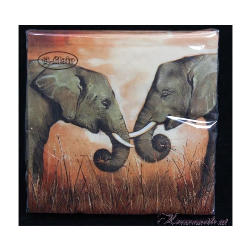 Serviette Elefanten