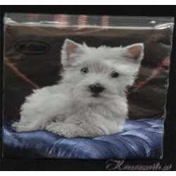 Serviette West Highland White Terrier