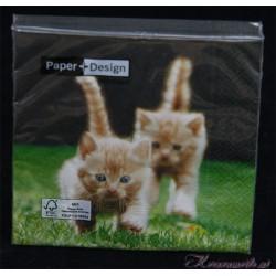 Serviette Katzen