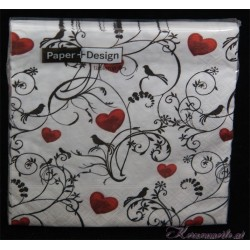 Serviette Romantic hearts
