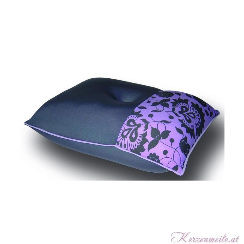 Kissen Elegance floral grau-flieder 1-2-Fun-Kissen