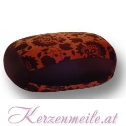 Kissen Relax floral braun-dunkelbraun 1-2-Fun-Kissen