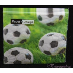 Serviette Fussball