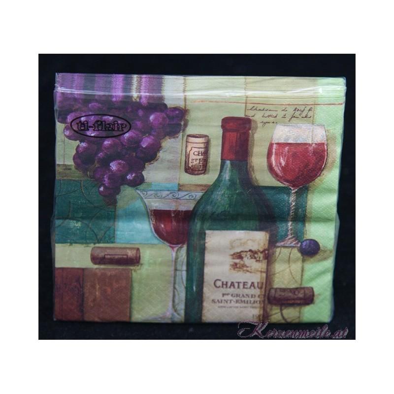 Serviette Wein