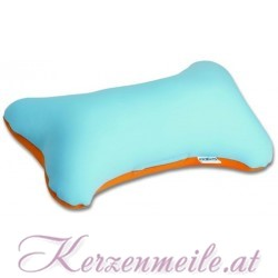 Knochen blau-orange 1-2-Fun-Kissen