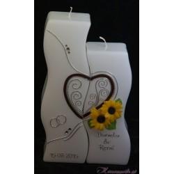 Hochzeitskerze Blume der Sonne Hochzeitskerzen-exklusiv
