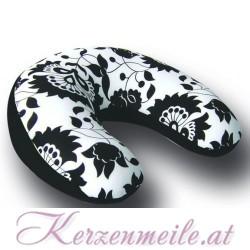 Nackenrolle floral schwarz-weiß 1-2-Fun-Kissen