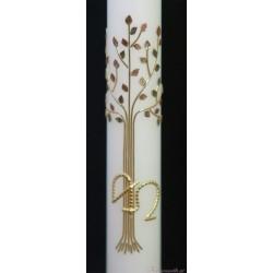 Taufkerze Lebensbaum Vintage Taufkerzen-klassisch elegant