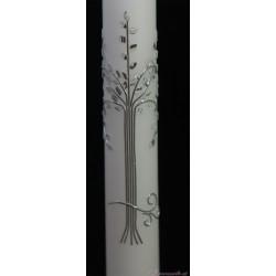 Taufkerze Silver Tree