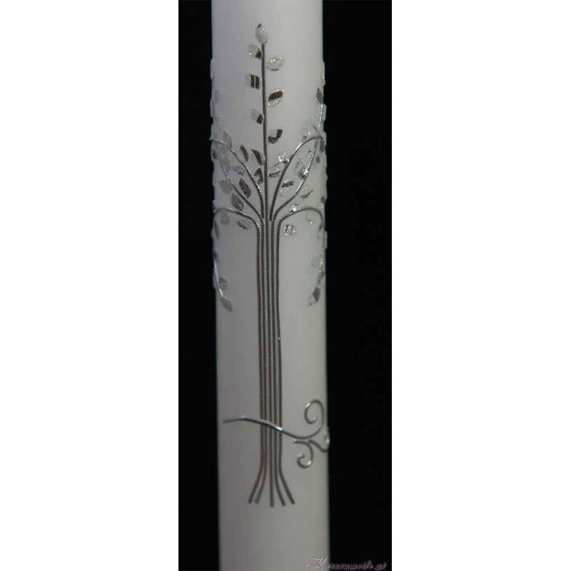 Taufkerze Silver Tree Taufkerzen Premium